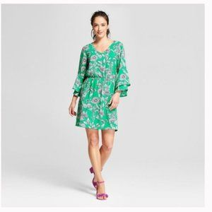 A New Day floral bell sleeve dress